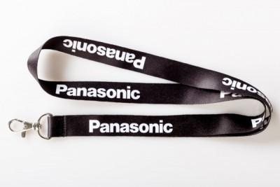 Realizacja dla Panasonic - smycz reklamowa sublimacyjna bez przesunięć